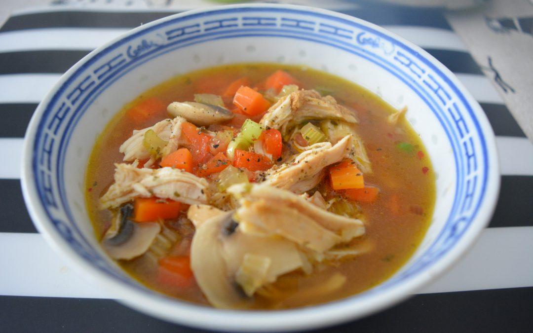Soep met kip en rijst