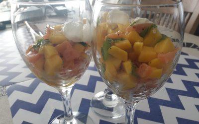 Hapje in glas : mango, zalm en munt