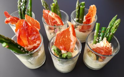 Avocado mousse met asperge